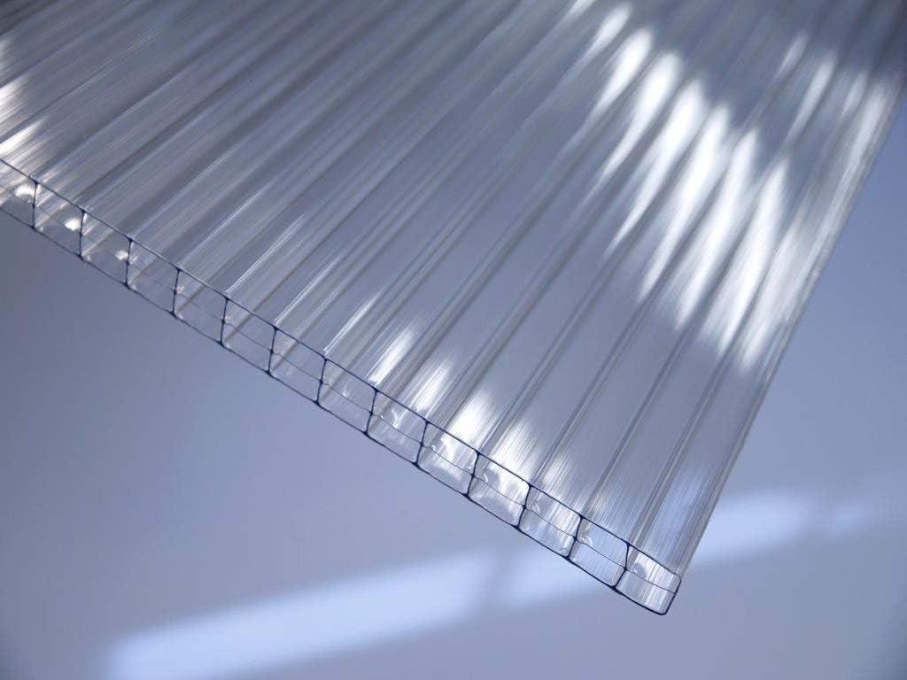 Steg 3-Fach 16//20//3 ECO 1200mm x 6000mm klar Polycarbonat ECO Stegplatte 16mm