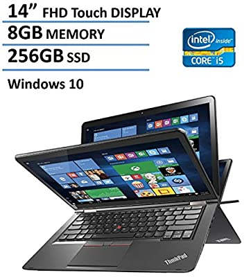 "2016 Newest Lenovo Thinkpad Yoga 2-in-1 Convertible 14"" FHD Touchscreen Laptop(Tablet), 6th Gen Intel Skylake Core i5-6200U, 8GB Ram, 256GB SSD, NVIDIA GeForce 940M, Backlit Keyboard, HDMI, Win 10"
