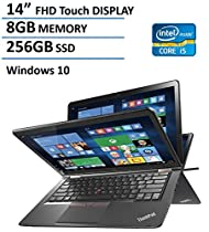 "2016 Lenovo Thinkpad Yoga 2-in-1 Convertible 14"" FHD Touchscreen Laptop(Tablet), 6th Gen Intel Skylake Core i5-6200U, 8GB Ram, 256GB SSD, NVIDIA GeForce 940M, Backlit Keyboard, HDMI, Win 10"