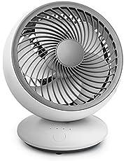 USB bureauventilator stille wandgemonteerde ventilatoren oscillerend/roterende desktopventilator, 5 messen, 3 snelheden koelventilator voor thuiskantoor outdoor reizen zomer