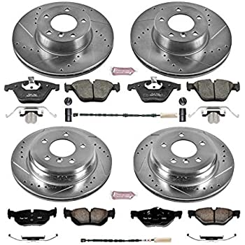 Power Stop K5348 Front /& Rear Brake Kit with Drilled//Slotted Brake Rotors and Z23 Evolution Ceramic Brake Pads