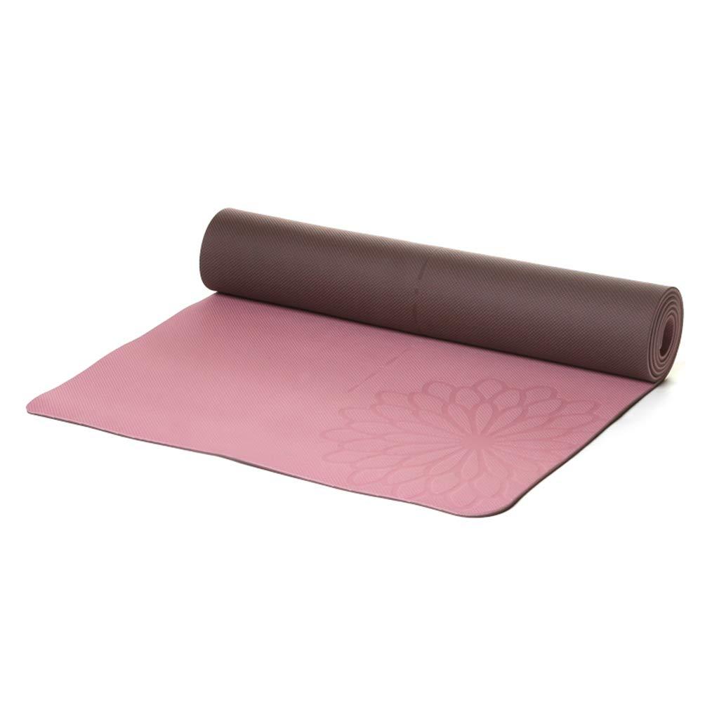 LXFMD Zweifarbige doppelseitige TPE-Yogamatte Yogamatte zur Verlängerung der Trainingsmatte (Farbe   C, größe   1830  610  5mm)