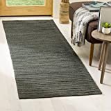 Safavieh CAP504A-28 Cape Cod Collection Flat Weave Handmade Runner, 2'3'' x 8', Dark Green