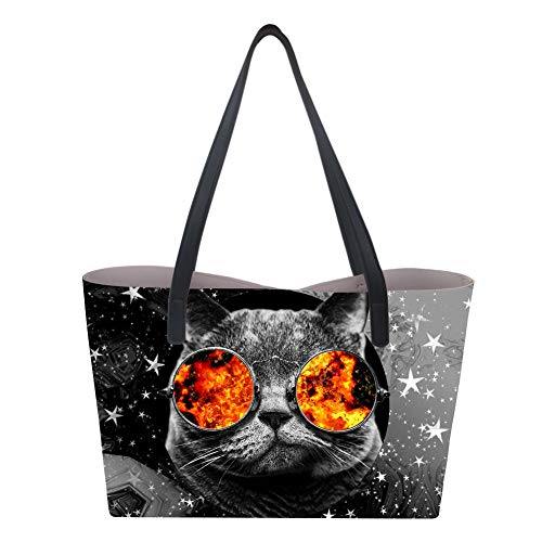 Showudesigns, Borsa a mano donna Large Cat Star