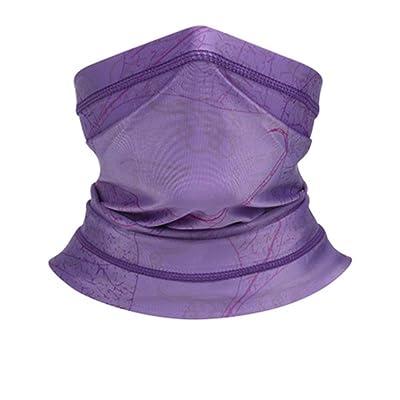 MITCOWBOYS Multifunctioanal Face Covering Summer UV Protection Neck Gaiter Scarf Sunscreen Breathable Bandana: Clothing