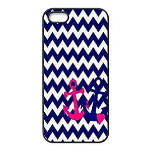 [QiongMai Phone Case] For Apple Iphone 5 5S Cases -Vintage Retro Anchor Pattern-IKAI0447892