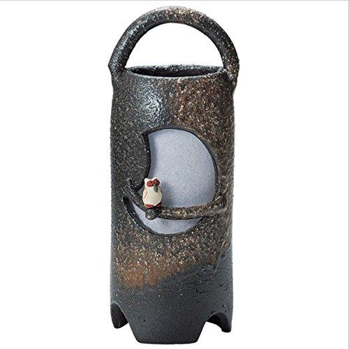 Japanese Ceramic Shigaraki ware. Lampshade. Desk Light. Tsukiyo owl. 4-2834 -
