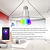 UPSTONE Smart WiFi Bulb LED Smart Switch RGB Multicolor Compatible with Alexa Google Home Assistant