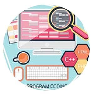 alfombrilla de ratón Concepto de diseño plano de la codificación del programa - ronda - 20cm