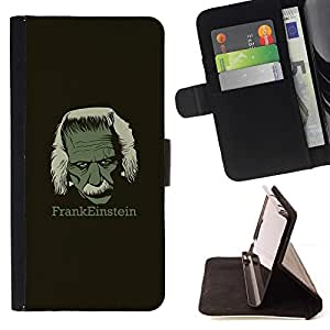 Momo Phone Case / Flip Funda de Cuero Case Cover - Frankeinstein - Funny E1Nstein - Apple Iphone 4 / 4S