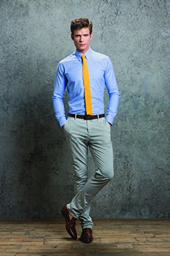 Kit Blue Kk184 light Business L 16h Uomo Work Kustom Blu Camicia Oxford s lbl BvwzxdP