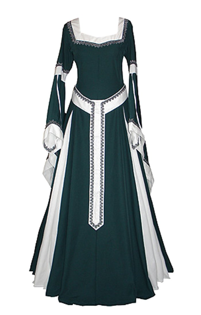 Misassy Womens Medieval Dress Renaissance Costumes Irish Over Long Dress Cosplay Retro Gown by Misassy (Image #1)