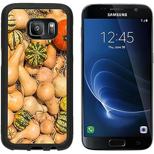 MSD Premium Samsung Galaxy S7 Aluminum Backplate Bumper Snap Case IMAGE ID 27526439 Many kind of pumpkins on straw at the big farm Sales