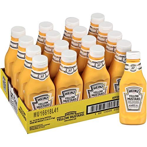 Heinz Yellow Mustard (12.75 oz Bottles, Pack of 16)