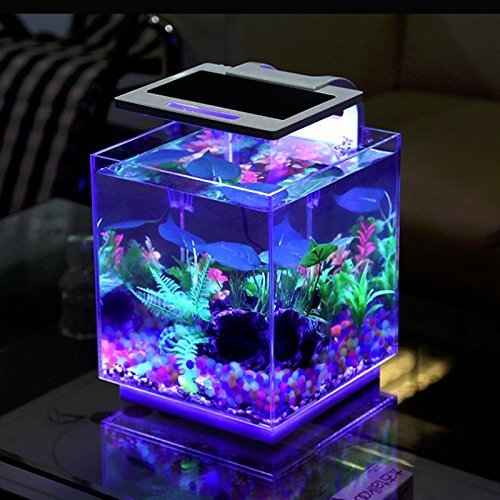 Aqua Innovations Aquarium Kit (include Filter + LED Light) (15L - Cube) by MWGears