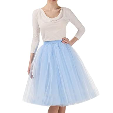 WDPL Women's Mini Tutu 5 Layer Tulle A Line Skirts at Amazon ...