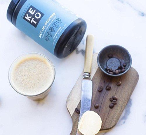 Perfect Keto MCT Oil Powder: Vanilla Ketosis Supplement (Medium Chain Triglycerides - Coconuts) for Ketone Energy - Paleo Natural Non Dairy Ketogenic Keto Coffee Creamer by Perfect Keto (Image #6)