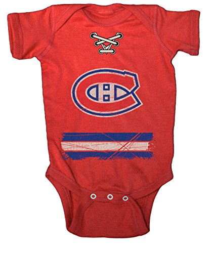 NHL Montreal Canadiens Beeler Vintage Infant Jersey Creeper, 12-Months, Red