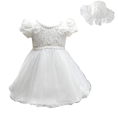 ead9060ab Mini Kitty Baby Girls 3pcs Dresses Pageant Formal Dress,White,0-6 Months