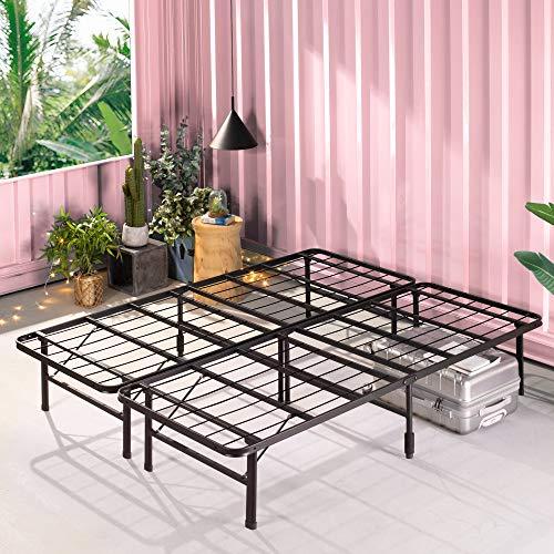 ZINUS SmartBase Zero Assembly Mattress Foundation / 14 Inch Metal Platform Bed Frame / No Box Spring Needed / Sturdy…