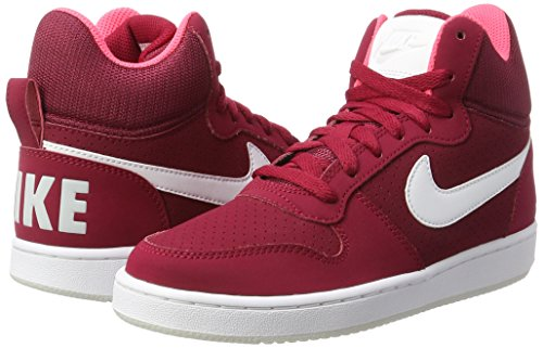 Para Red Mid Mujer Red pure Nike noble Zapatillas Court Platinum solar white Rojo Borough Altas YTnXp