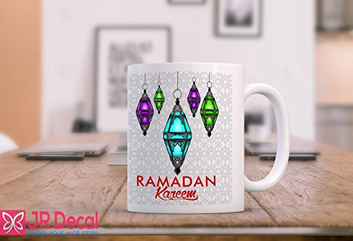 RAMADAN Kareem Islamic Mug Printed coffee mug Muslim Eid Gift, Morning Coffee Mug, ramadna Gift for your family. by JR Decal Wall Sticker