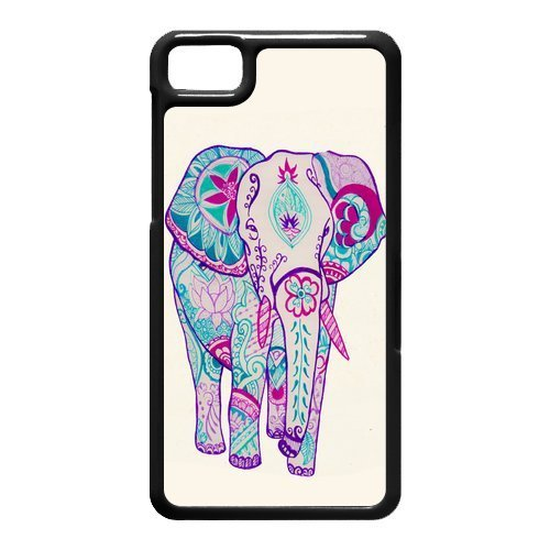 Hand Painted Animal Cartoon Series Cute Elephant Color Design Popular Coral Custom Luxury Cover Case For BlackBerry Z10 with Best Plastic ALL MY DREAMS