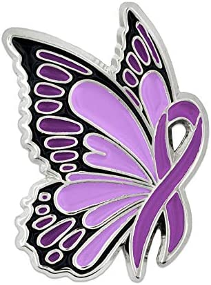 PinMart Domestic Violence Awareness Butterfly product image