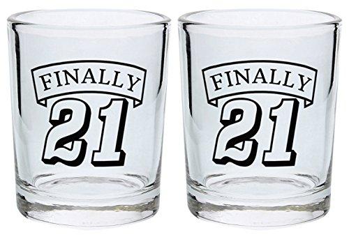 Birthday Glass Finally Glasses 2 Pack