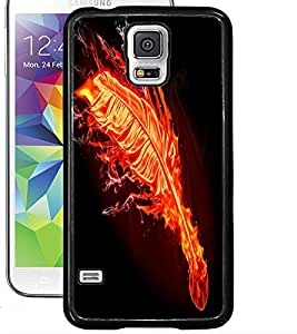 ColourCraft Flaming Feather Design Back Case Cover for SAMSUNG GALAXY S5 NEO