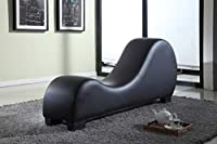 Container Direct Faux Leather Stretch Chaise Relaxation and Yoga Chair