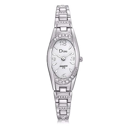Amazon.com: Kutuan - Reloj de cuarzo para mujer con pequeños ...