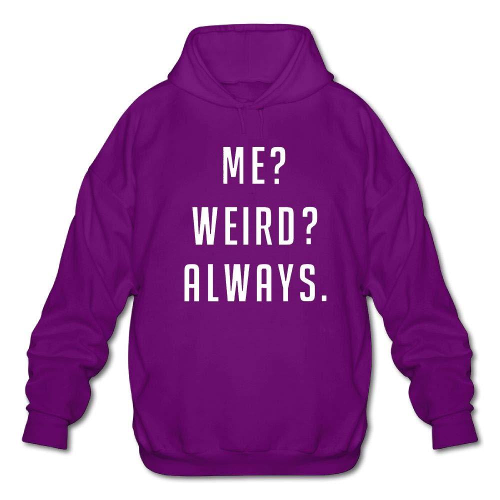 Sweatshirt Gongchaoqun Mens Long Sleeve Cotton Hoodie Me/ï/¼/Ÿ Weird/ï/¼/Ÿ Always