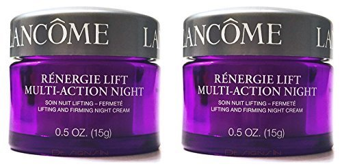 Renergie Lift Multi-Action Night Lifting and Firming Night Cream for All Skin Types, 2 Jars, 0.5 oz. ()