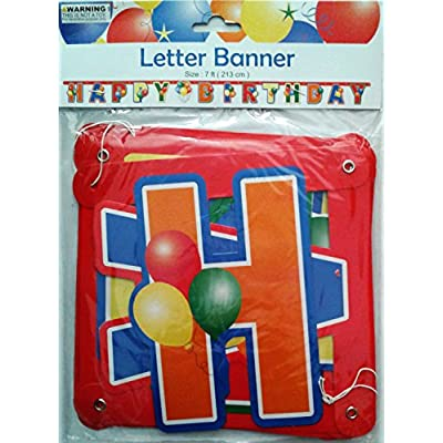 Green party Happy Birthday Letter Banner, Blur or Red: Toys & Games