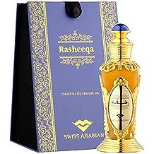 RASHEEQA Perfume Oil for Women 20mL, is Charming Oriental Garden Full of Flowers in Bloom; Rose, Fresh Greens, and Jasmine with a Musk, Sandalwood and Cedarwood Base by Oud Artisan Swiss Arabian