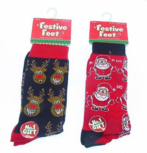 Calcetines Hombre Novedad Para Navidad Talla 6-11