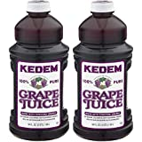 Kedem Concord Grape Juice 64oz (2 Pack) Made With 100% Pure Juice!
