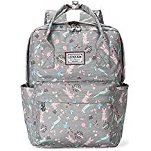 Casual Daypack Floral School Travel Laptop Backpack for Teenage Girls
