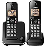 Panasonic KX-TGC352B 2-Handset Expandable Cordless Phone with Amber Backlit Display, Black