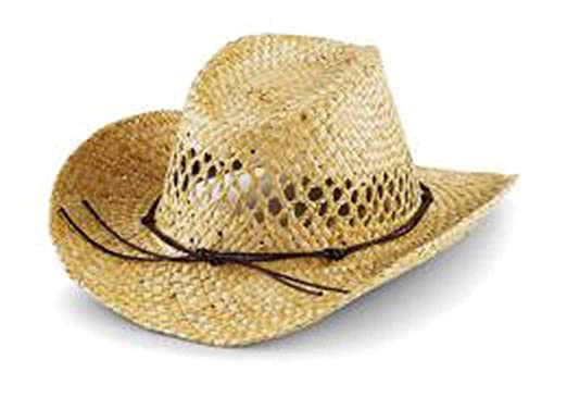Amazon.com  Beechfield Big Boys  Straw Cowboy Hat Natural One size ... 632efd818ce