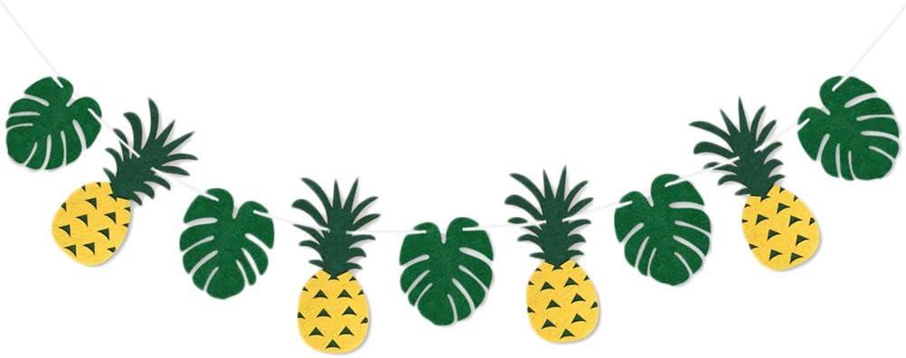 Amosfun 2M Pineapple Bunting Banners Hanging Garlands Hawaiian Luau Party Festival Decoration