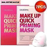 Celderma Korean Makeup Base Quick Priming Mask (7 Sheets) - Moisture Hydrogel Facal Mask