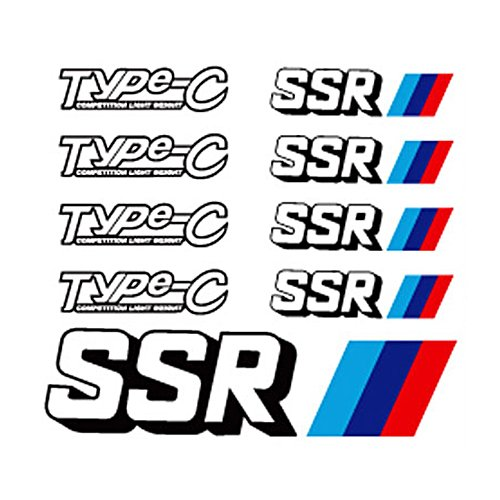 - yourfreestyle Reflect Wheel SSR Sticker 165mmx150mm 9-pc Set For Universal Vehicles (Type-C)
