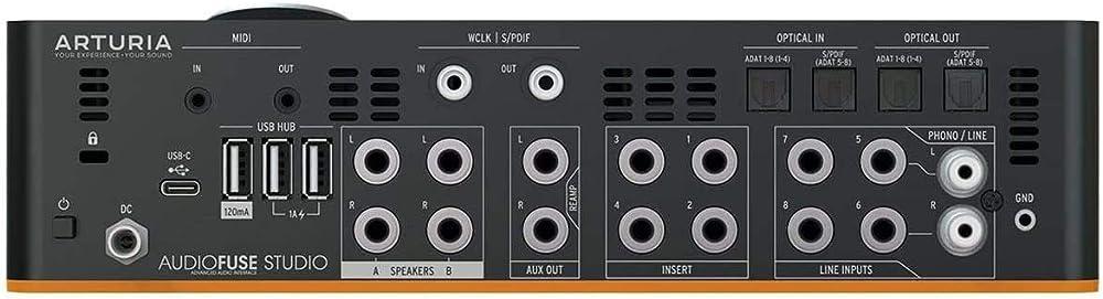 AudioFuse Studio:リアパネル