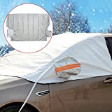 Bluecookies Windshield Snow Cover Sizes for All Vehicles, Snow, Ice, Frost Wind Proof