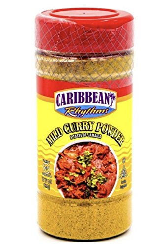 Caribbean Rhythms Mild Curry Powder 4 oz by Caribbean Rhythm