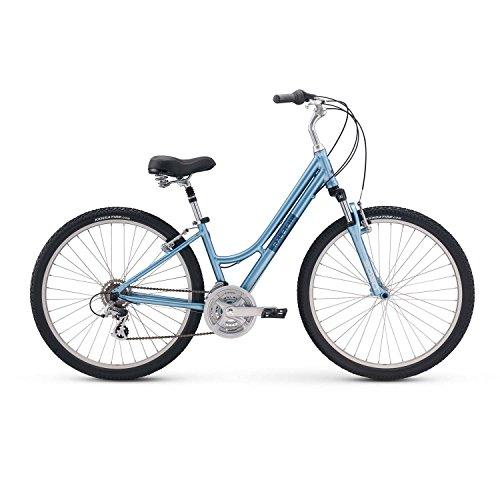 Raleigh America Venture 2 Step Through Womans Comfort Hybrid Bike, Blue, ()