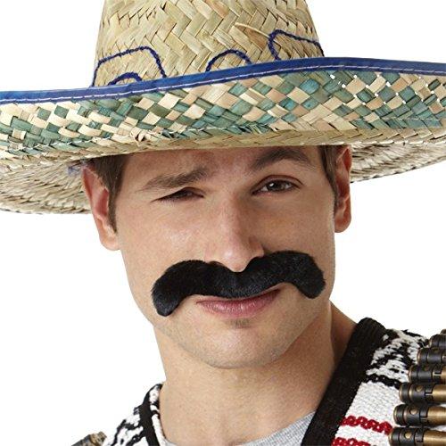 [Amscan Wacky Facial Hair Hombre Moustache Costume Accessory, Black, 8