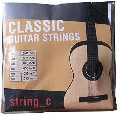 Paquete de cuerdas para guitarra clásica: Amazon.es: Instrumentos ...